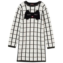 Catimini Black and White Cat Graphic Knit Dress 12