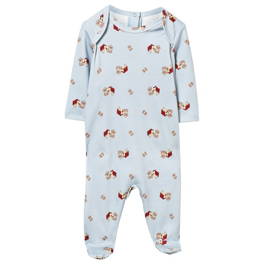 Dolce & Gabbana Pale Blue Mimmo Print Footed Baby Body HC180