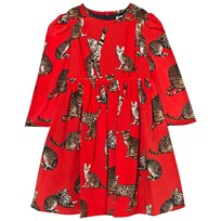 Dolce & Gabbana Red Cat Print Dress HS348
