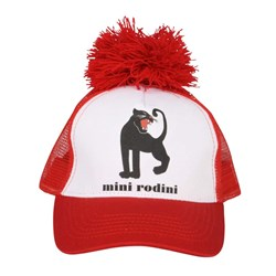 Mini Rodini Panther Cap White/Red