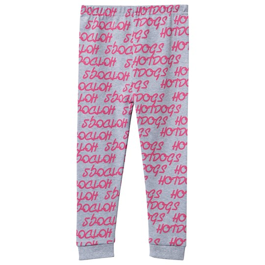 Gardner and the gang Grey and Pink Hotdog Print Legging Black