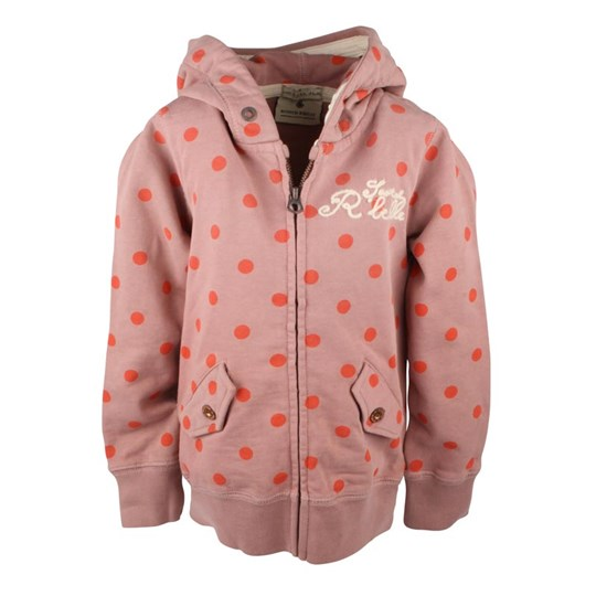 Scotch R'belle Dotted Pink Zip Jacket Pink