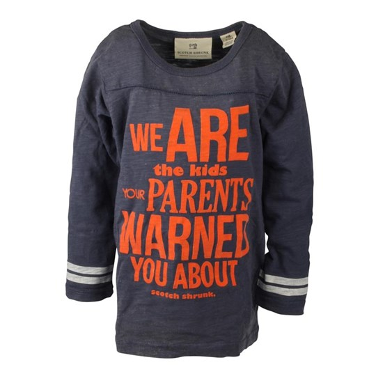 Scotch & Soda LS Tee We Are The Kids Blue