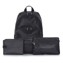 Tiba + Marl Black Elwood Backpack Changing Bag Black