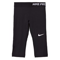 NIKE Black Pro Cool Capri Leggings BLACK/BLACK/BLACK/WHITE