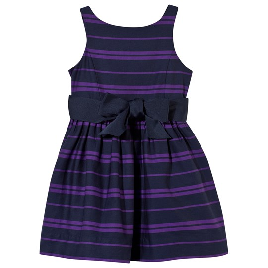 Ralph Lauren Purple and Navy Stripe Dress C472B