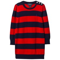 Ralph Lauren Red and Navy Knit Dress with PP C678B