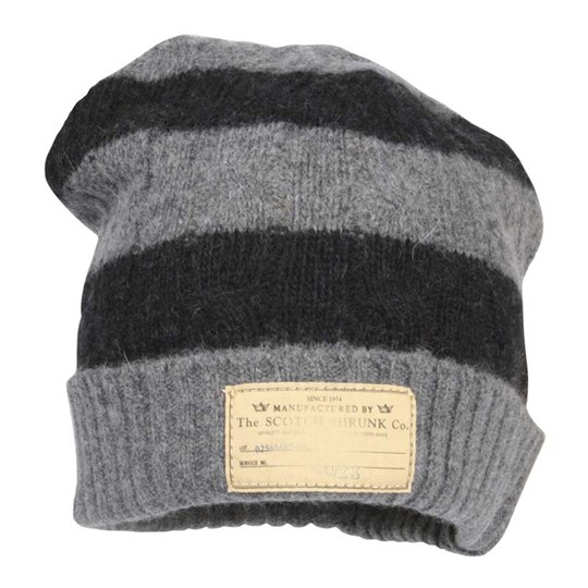 Scotch & Soda Knitted Hat Stripe Black/Grey Grey