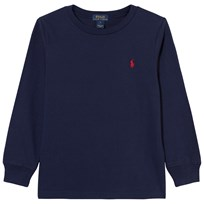 Ralph Lauren Navy Long Sleeve Classic Tee A413B