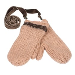 Scotch R'belle Pink Knitted Mittens