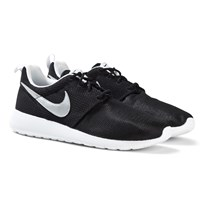 NIKE Black Roshe One Trainers BLACK/MTLLC SILVER-WHITE-WHITE