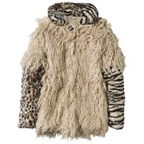 Diesel Faux Shearling and Animal Print Coat K902