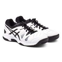 Asics White Gel Game 5 Trainers 0190 WHITE/ BLACK