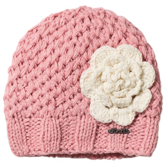 Barts Knitted Rose Beanie in Pink 08 BLUSH