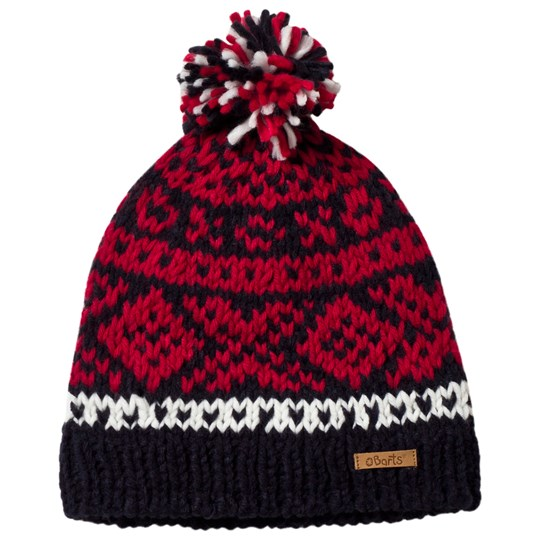 Barts Red Log Cabin Beanie 03 NAVY
