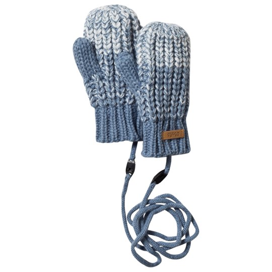 Barts Blue Knitted Stids Mitts 04 BLUE