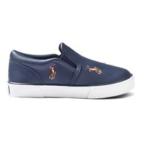 Ralph Lauren Navy Leather Bal Harbour Repeat Slip On Shoes NAVY LEATHER