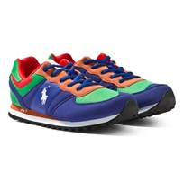 Ralph Lauren Slaton Royal Blue and Green Laced Trainers Royal/ Green