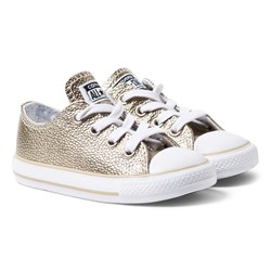 Converse Gold Metallic Chuck Taylor All Star Trainers
