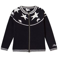 Bogner Navy Fullzip Cardigan With Navy Stars 441 NAVY