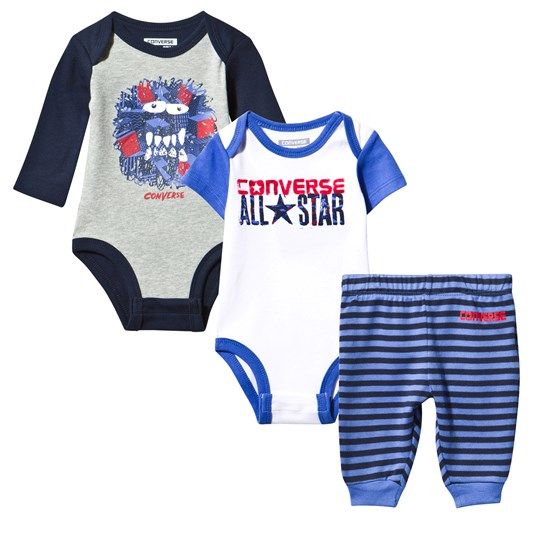 Converse Pack of 2 Bodies and Striped Pants Set B5Z OXYGEN BLUE