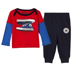 Converse Red Top and Pants Set