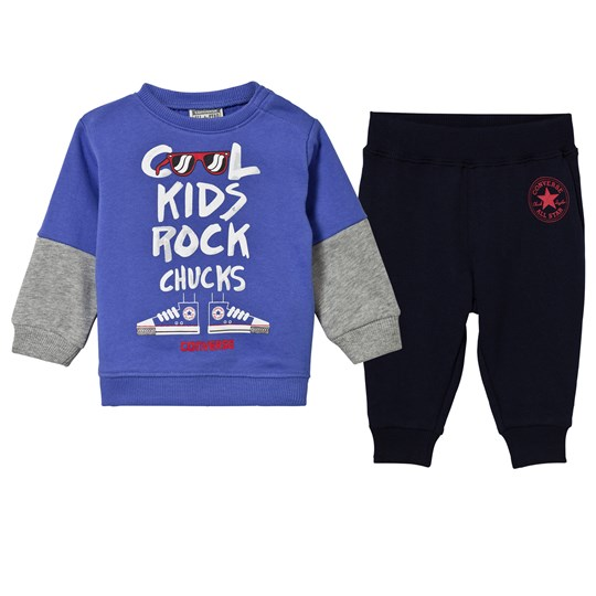 Converse Blue Cool Kids Rock French Terry Outfit Set 695 OBSIDIAN