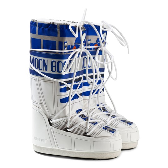 Moon Boot White Star Wars R2-D2 Moon Boots 001 WHITE-BLUE-SILVER