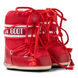 Moon Boot Red Mini Moon Boots
