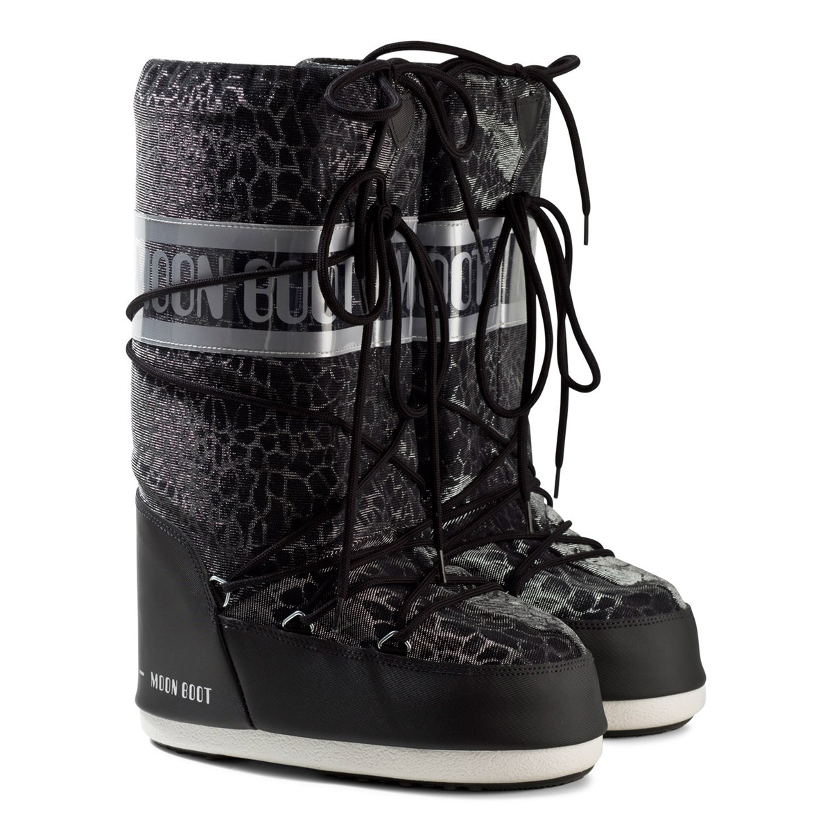 moon boot black sunset snake effect moon boots. Black Bedroom Furniture Sets. Home Design Ideas