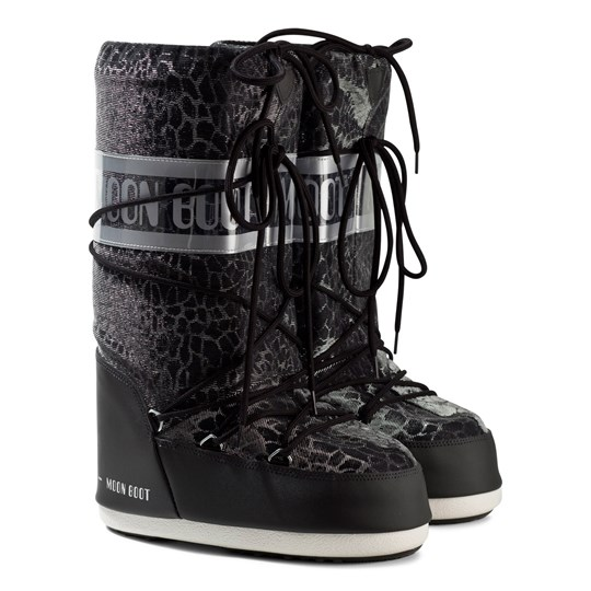 Moon Boot Black Sunset Snake Effect Moon Boots 001 BLACK
