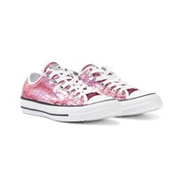 Converse Pink Sequin Chuck Taylor All Star Trainers PASSION PINK/WHITE/BLACK
