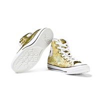 Converse Gold Sequin Chuck Taylor All Star Hi Tops GOLD/WHITE/BLACK