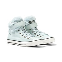 Converse Ice Blue Fur Lining Chuck Taylor All Star Brea Hi Tops POLAR BLUE/BLACK/EGRET