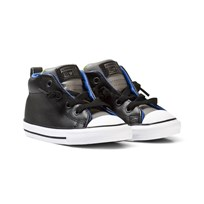 Converse Black Infants Pop Chuck Taylor All Star Street Hi Tops BLACK/BOLD LIME/MOUSE