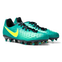 NIKE Junior Magista Prism Opus II Firm-Ground Boot RIO TEAL/VOLT-OBSIDIAN-CLR JD