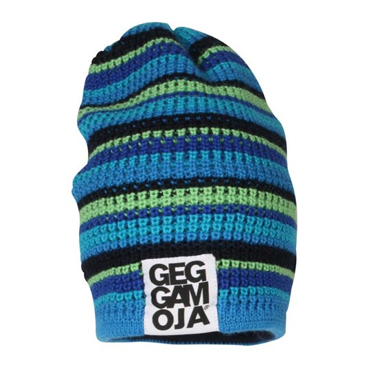 Geggamoja Knitted Beanie Blue Multi Boy Multi