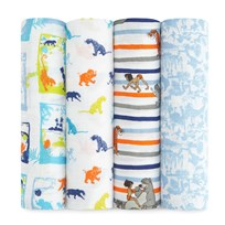 Aden + Anais 4 Pack of Disney Jungle Book Print Swaddles Jungle Book