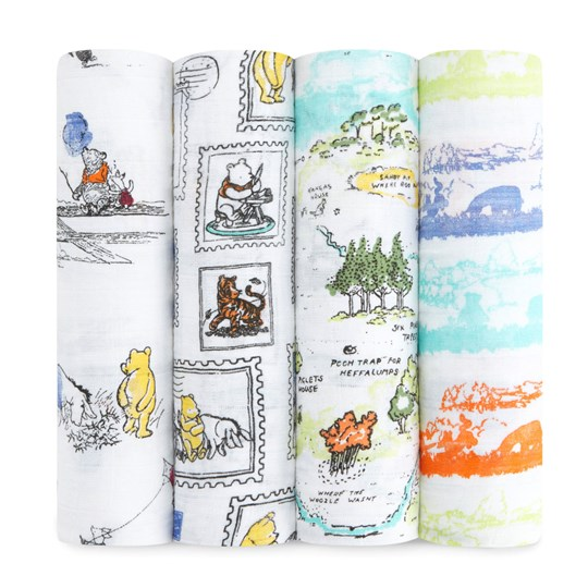 Aden + Anais 4-Pack Disney Winnie the Pooh Classic Swaddles Winnie