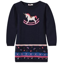 Billieblush Navy Knit Unicorn Dress Z41