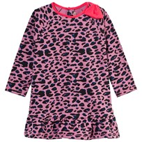 Billieblush Purple Leopard Print Sweatshirt Dress S48