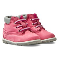 Timberland Classic Pink Booties and Hat Set Pink