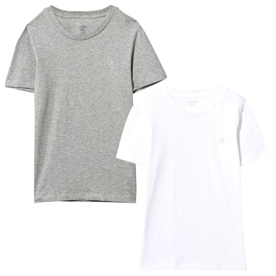 Calvin Klein Grey and White Tee 2-Pack 926
