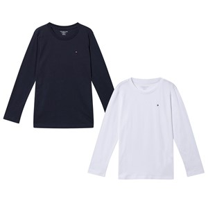 Image of Tommy Hilfiger 2-Pack Navy and White Tees 10-12 years (3066372407)