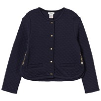 Cyrillus Navy Quilted Jersey Jacket Navy