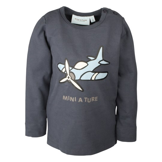 Mini A Ture Airplane T-shirt Ombre Blue Blue