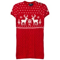 Ralph Lauren Red Reindeer Dress XW1W7