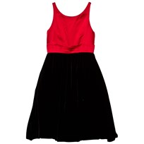 Ralph Lauren Red and Black Duchess Satin Dress XW1RP