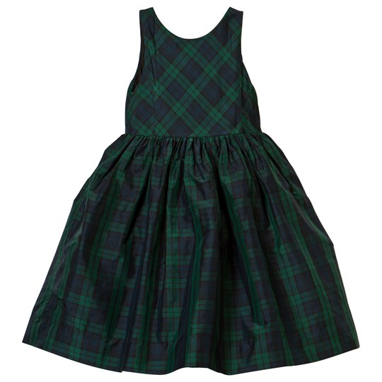 Ralph Lauren Green and Black Tartan Woven Dress XW1U1