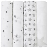 Aden + Anais 4 Pack of Star Print Swaddles Twinkle